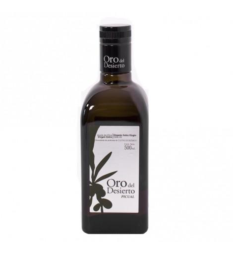 Aceite de Oliva Ecológico Oro del Desierto Picual botella 500ml