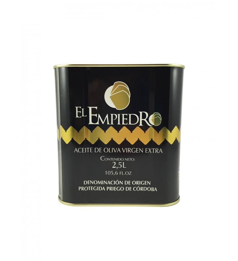 Aceite de Oliva El Empiedro Caja de 6 latas 2,5 L