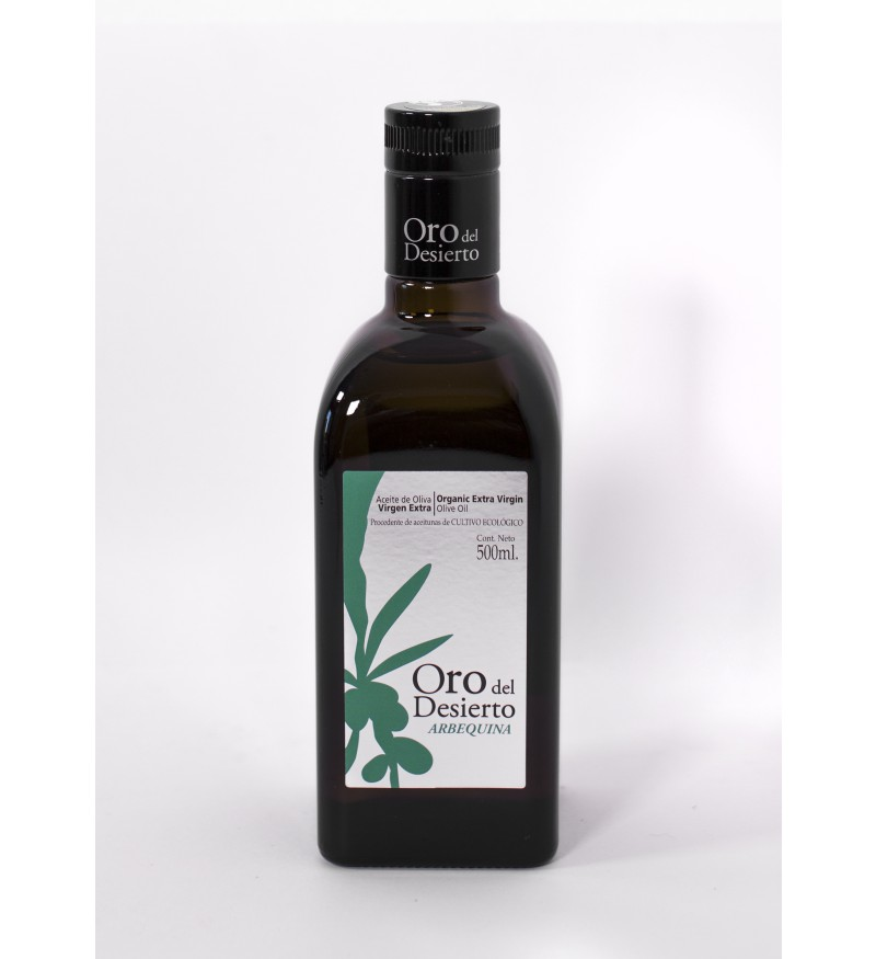Aceite de Oliva Ecológico Oro del Desierto Arbequina caja 6 botellas 500ml