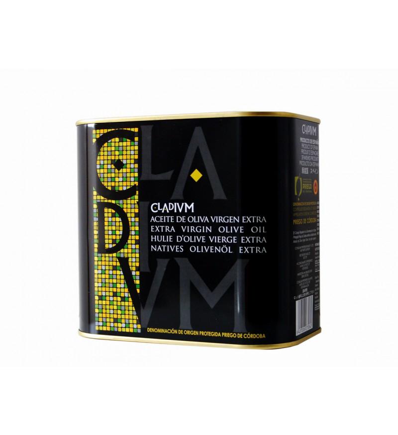 Aceite de Oliva CLADIVM Hojiblanco Caja de 4 Latas de 2L
