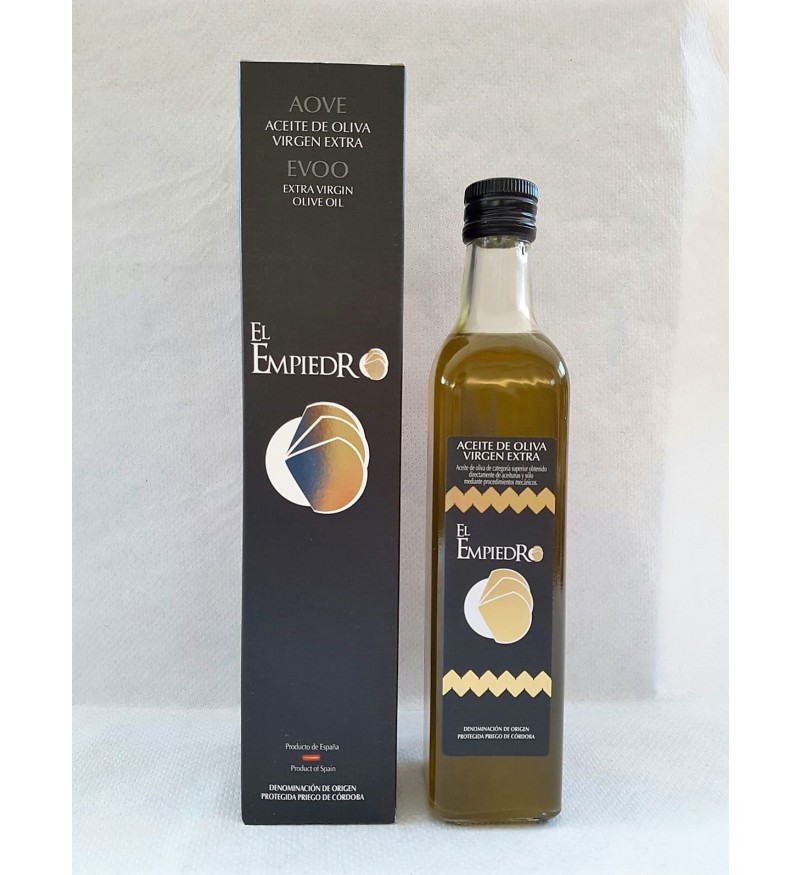 Aceite de Oliva El Empiedro Botella cuadrada 500ml Estuche