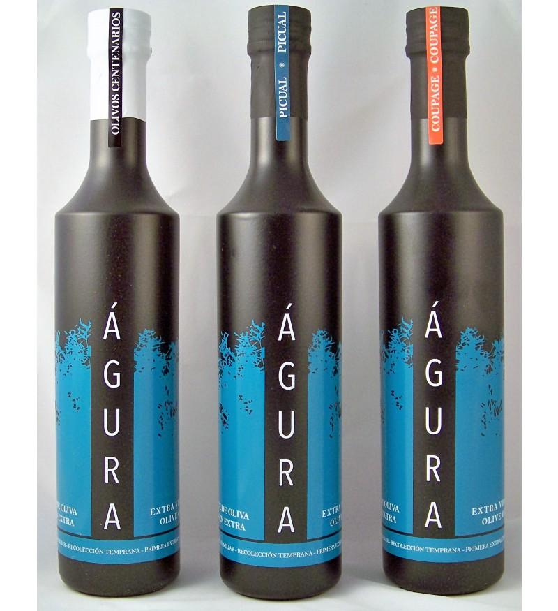 Aceite de Oliva ÁGURA Lote Degustación 3X500ml
