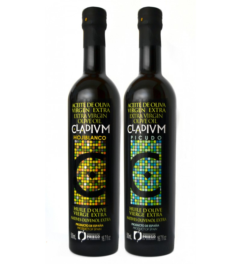 Aceite de Oliva CLADIVM Caja Combinada 2 variedades de 500ml